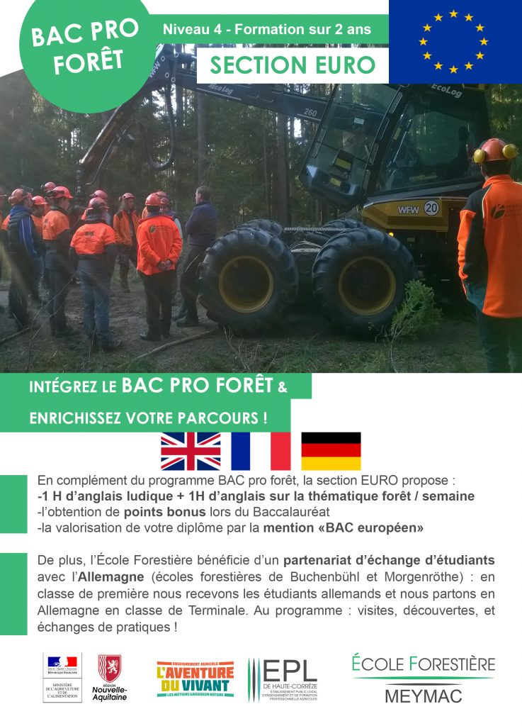 Bac PRO Foret section euro